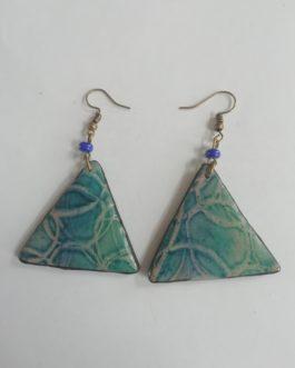 Boucles d'oreilles triangulaires bleues